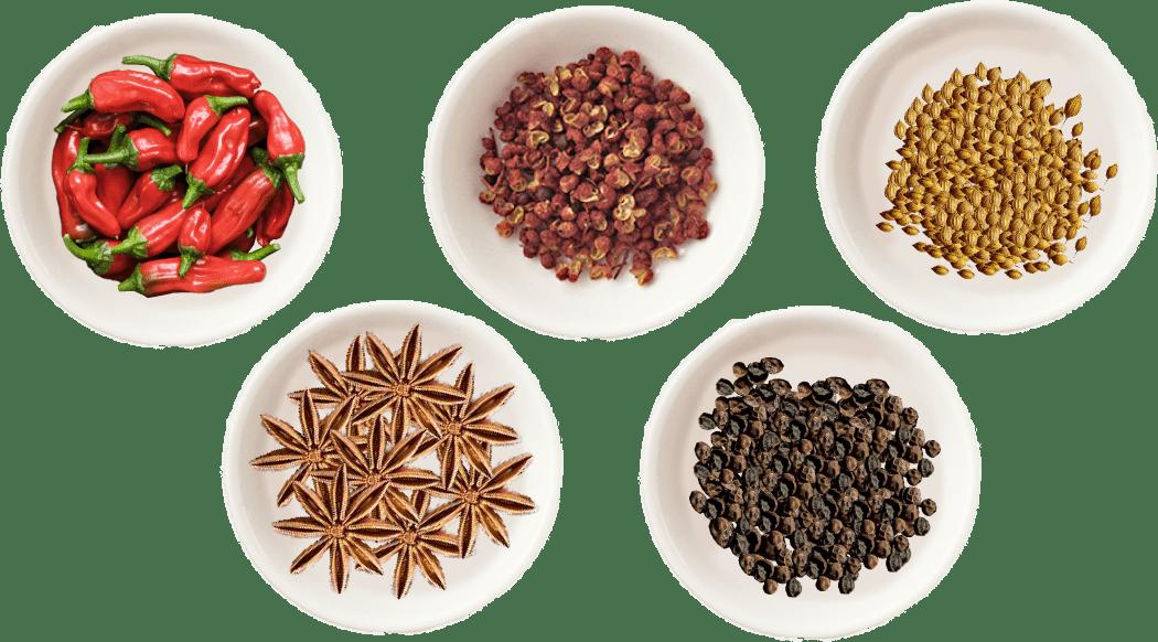 レッドペッパー・花椒・八角etc 数種のスパイス配合